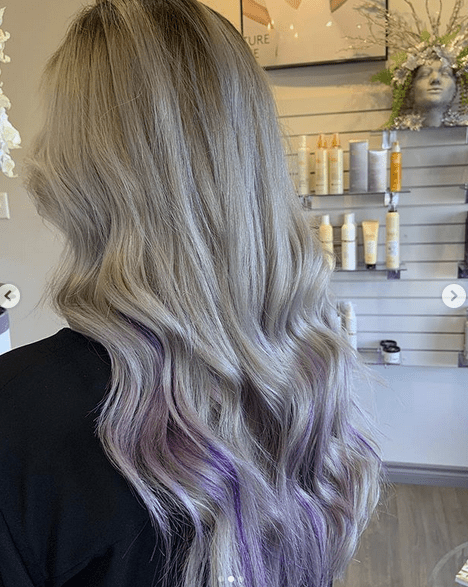 Blong to Purple Layered Hairstyles