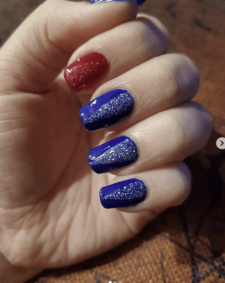 Patriotic Holographic Nails
