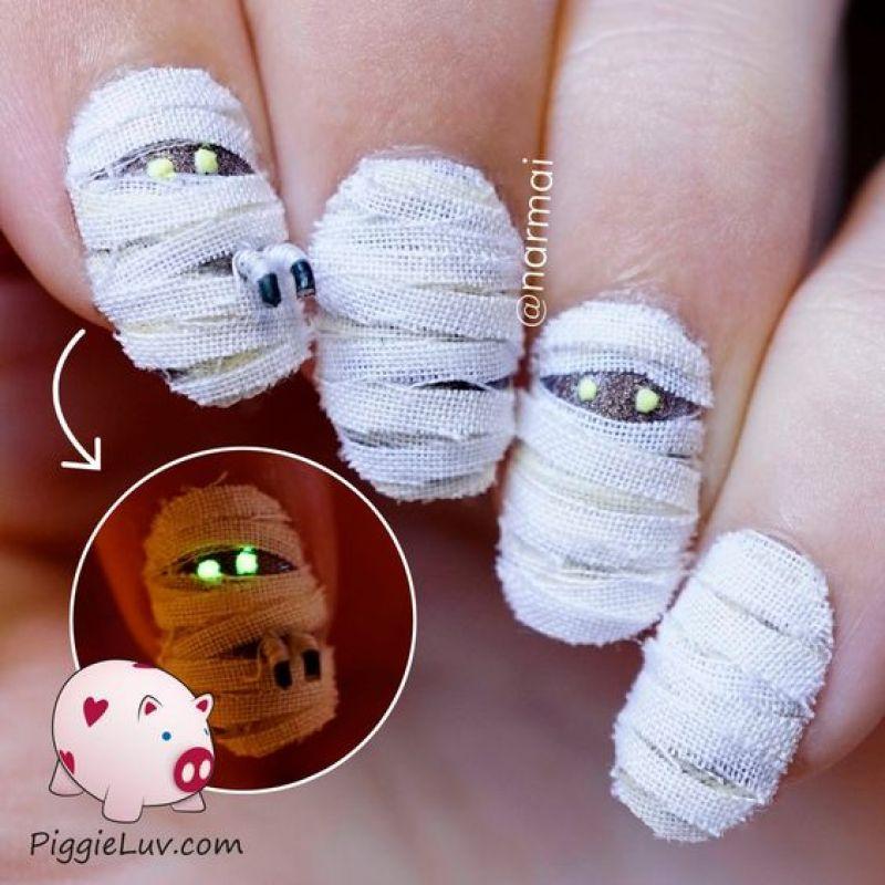 3D Halloween Nail Art