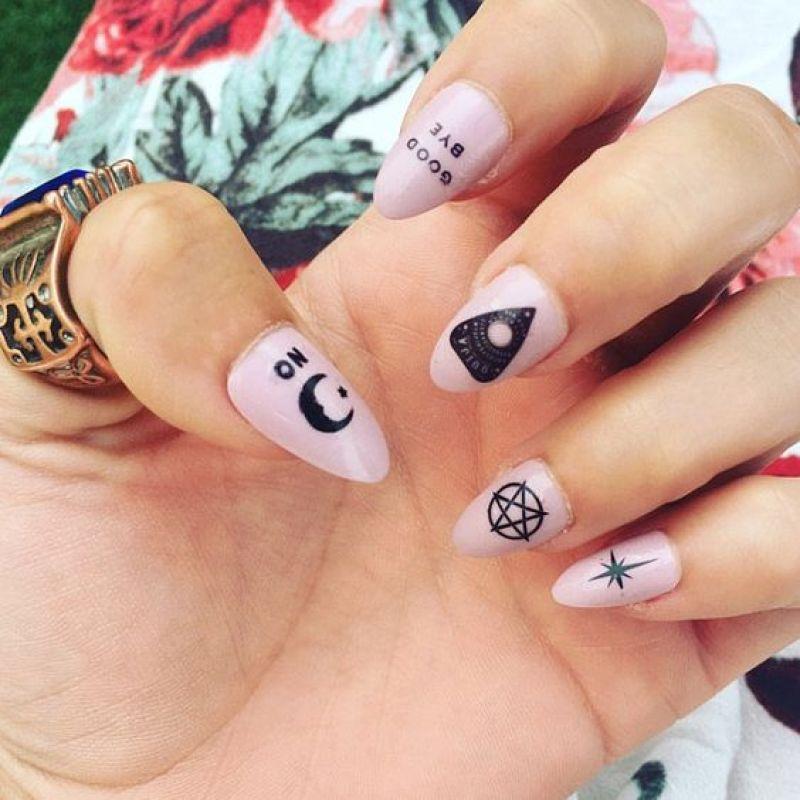 Ouija Board Nail Art