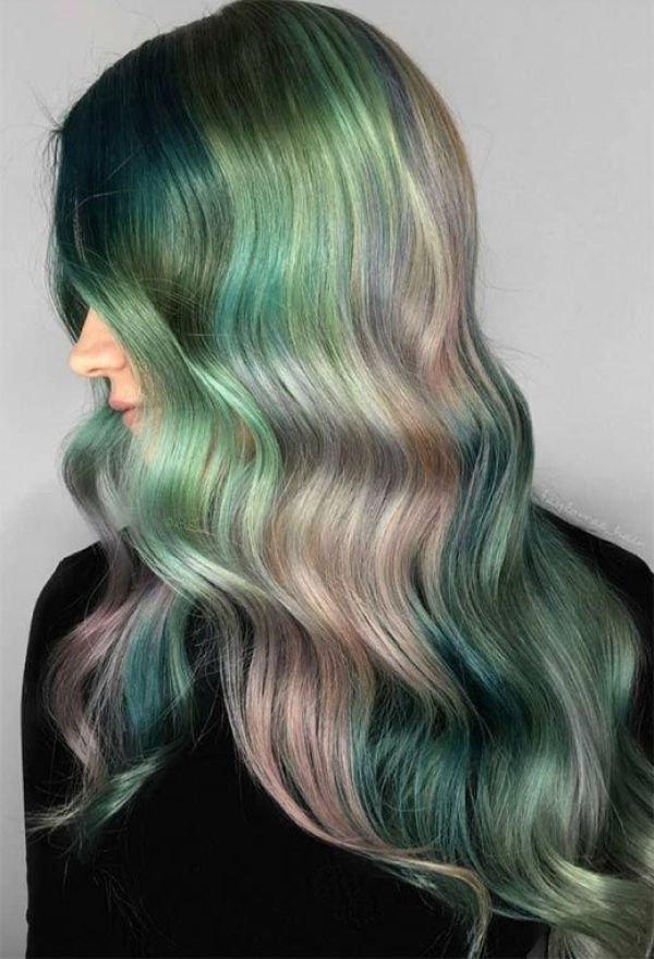 Pastels of Green Hair