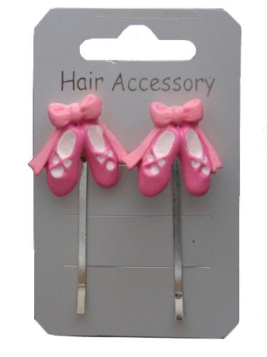 Girls ballet shoes hair clips-0