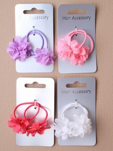 Girls flower hair elastics-1204