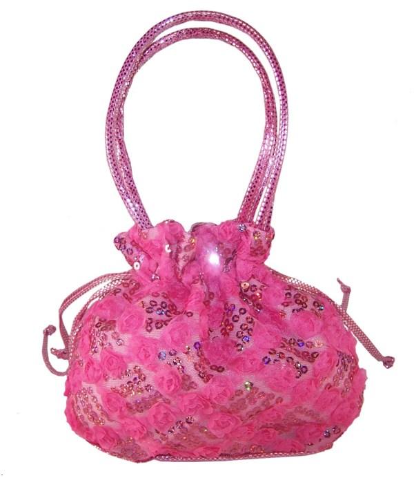 Girls pink sparkly handbag