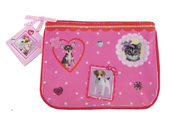 Girls pink cosmetic bag