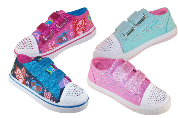 Pretty sparkly girls casual shoes