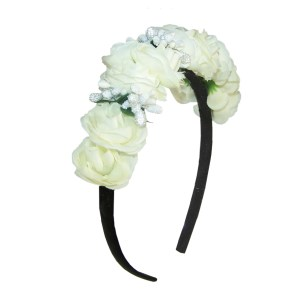 Girls ivory flower headband