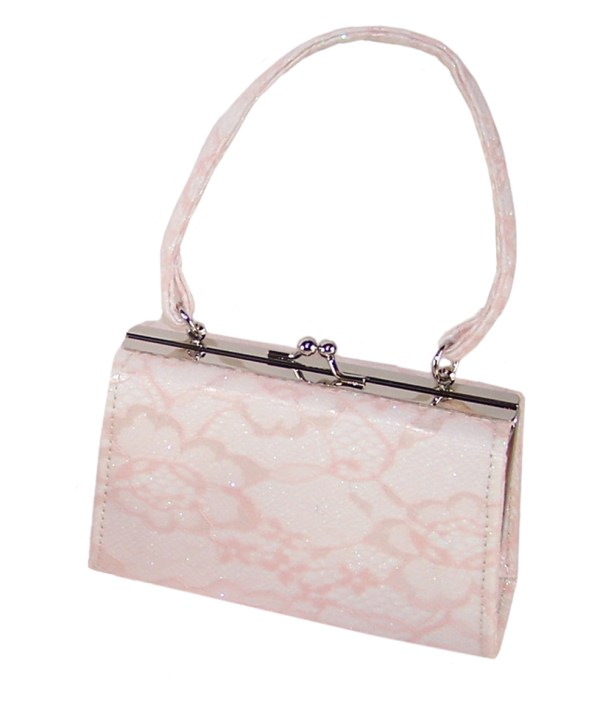 Girls peach and ivory sparkly handbag-0