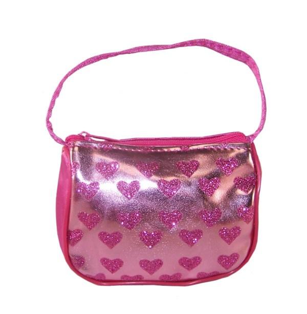 Girls pale pink heart purse