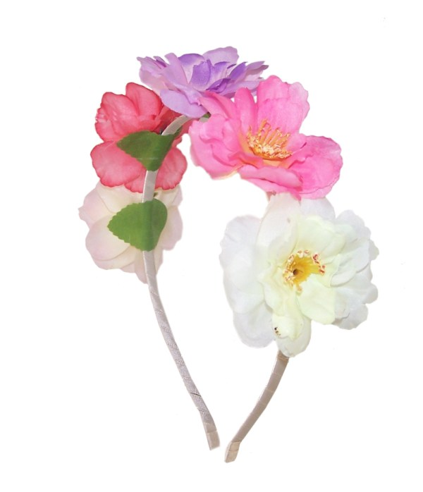 Girls colourful rose headband-0