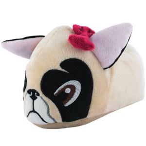 Pug dog novelty slippers