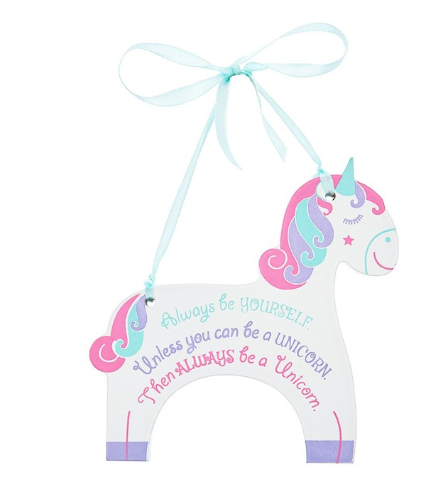 Unicorn hanging plaque-0