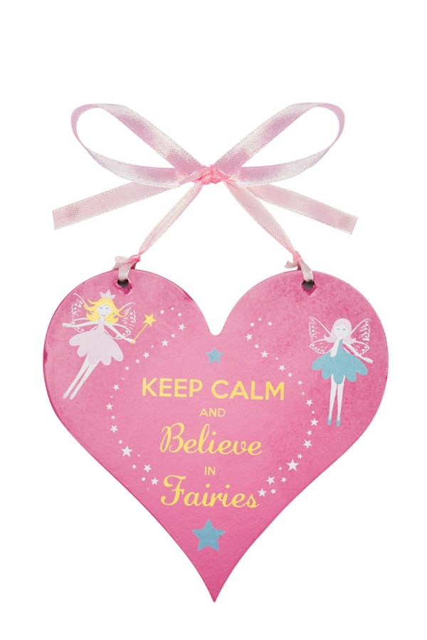 Fairy heart wooden hanging sign -0