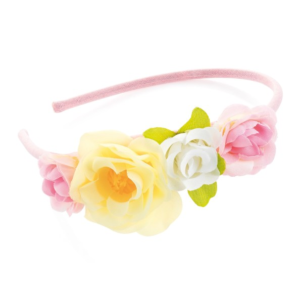 Girls pastel tone flower headband-0