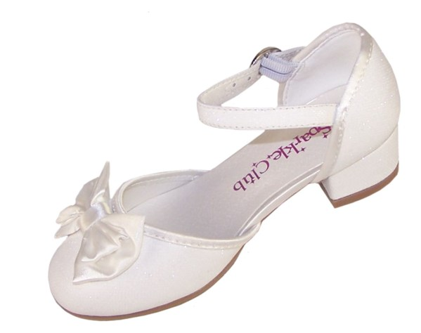 Girls sparkly flower girl and bridesmaid shoes and satin bag-4701