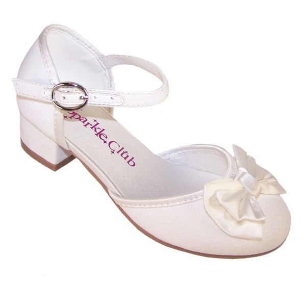 Girls sparkly flower girl and bridesmaid shoes and satin bag-4699