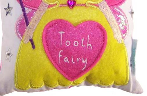 Tooth fairy sparkly cushion-4727