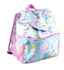 Girls Mermaids PVC blue and pink backpack
