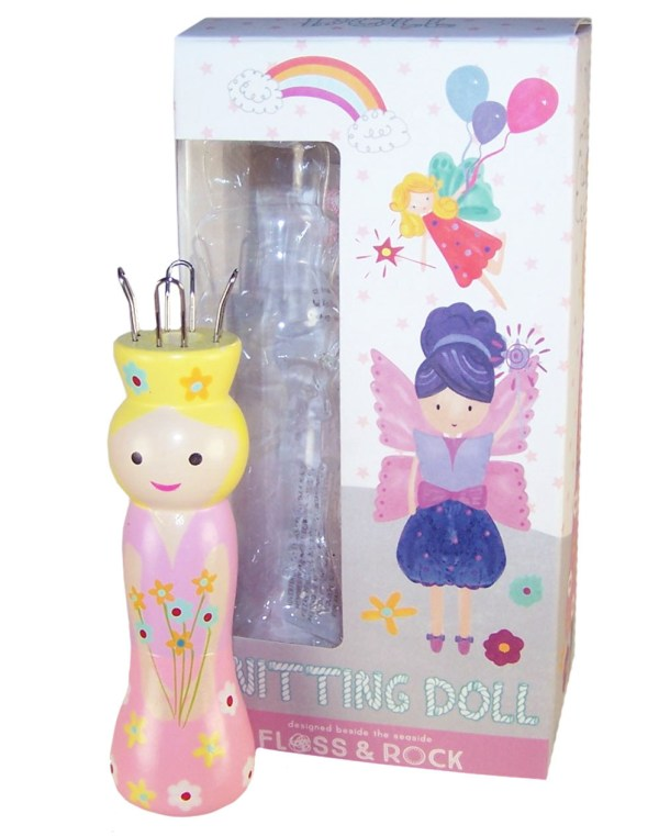 Fairy knitting doll with 6 coloured wools-0