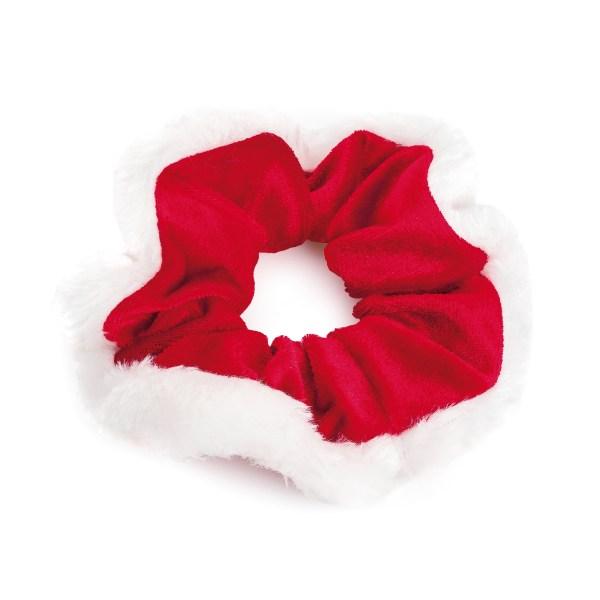 Red velvet white scrunchie-0