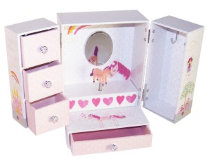Unicorn and fairies sparkly musical jewellery wardrobe