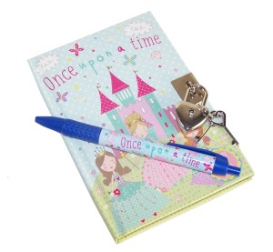 Princess sparkly lockable secret diary notebook