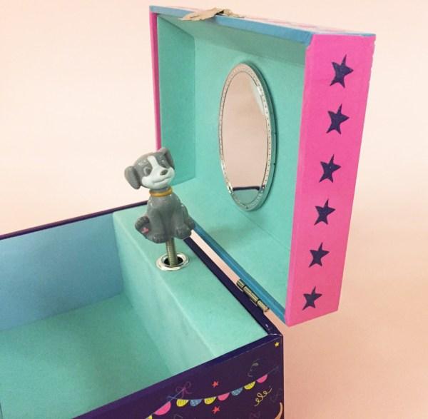 Childrens dark blue pets musical jewellery box -5132
