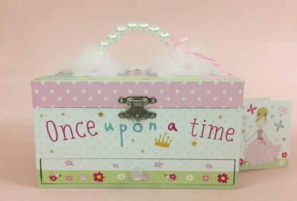 Girls rectangular princess musical jewellery box -5137