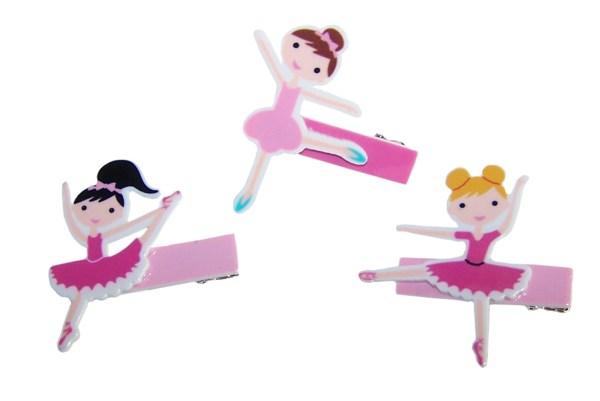 Pack of 3 childrens ballerina hair clips-0