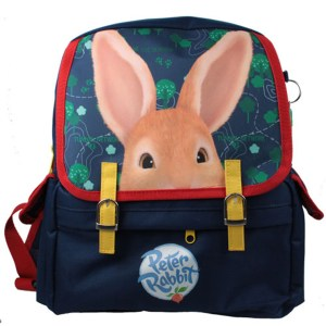 Childs Peter Rabbit dark blue satchel backpack
