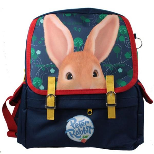 Childs Peter Rabbit dark blue satchel backpack -0