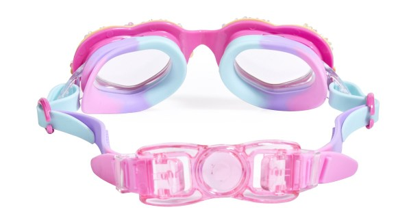Girls multi coloured heart sparkly swimming goggles-5633
