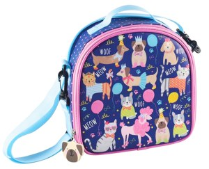 Childrens blue pets insulated lunch bag