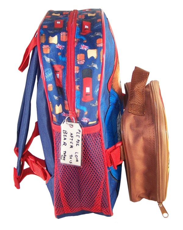 Paddington Bear blue back pack with detachable lunch bag-5883