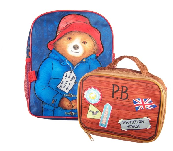 Paddington Bear blue back pack with detachable lunch bag-5881