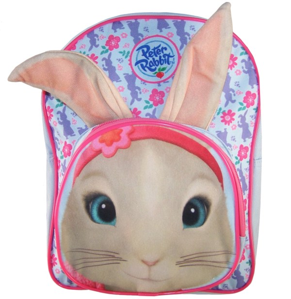 Childs Peter Rabbit Lily pale blue and pink backpack -0