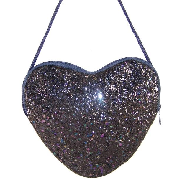 Girls dark blue velvet ballerina party shoes with matching glitter bag-5982