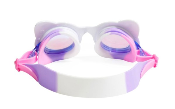 Girls fun cat shaped white swimming goggles with lashes-5928