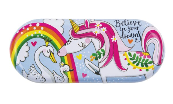 Childrens colourful Unicorn glasses case-0