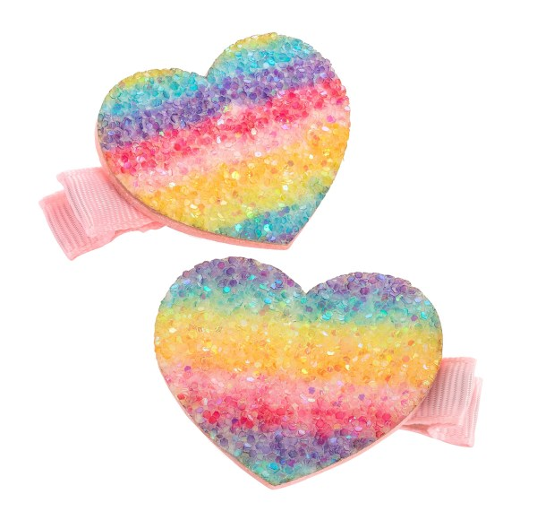 Girls pastel rainbow colours sparkly shoes - Gift Set -6164