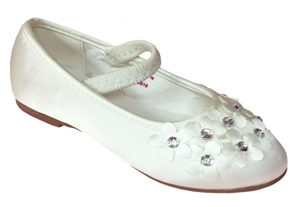 Ivory satin young flower girl and bridesmaid ballerina shoes-6282