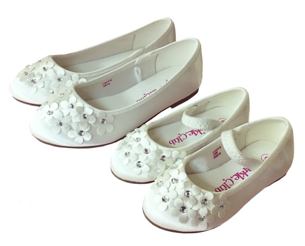 Ivory satin flower girl and bridesmaid ballerina shoes-6280