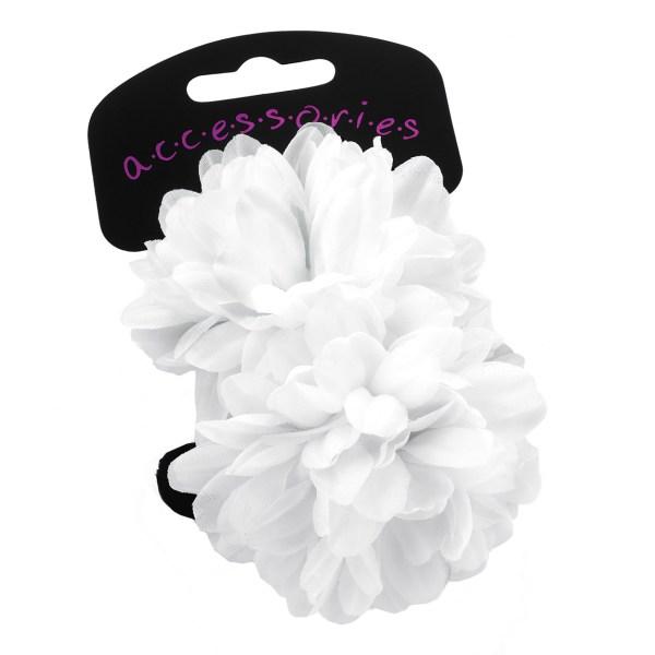 Girls pack of 2 white flower ponios-0