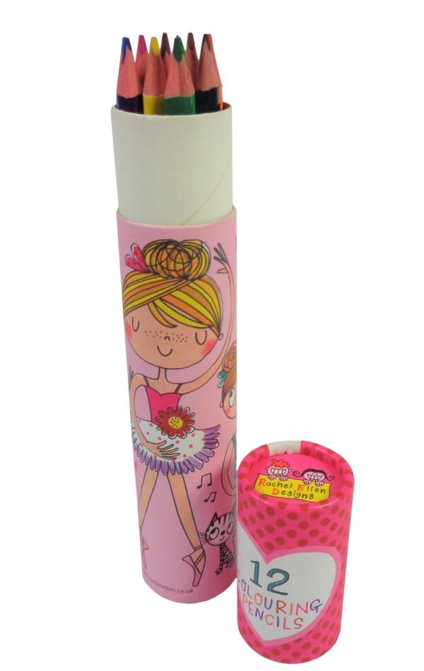 Ballerina colouring pencil set-6595
