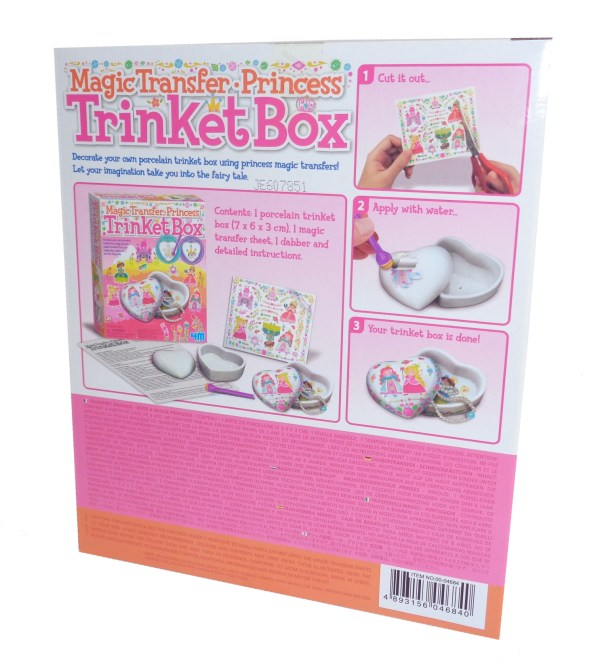 Childs magic transfer princess trinket box craft kit-6563