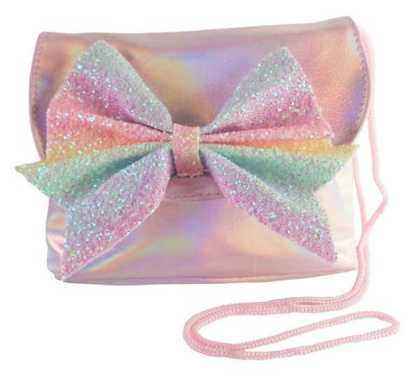 Childrens pink sparkly handbag-0
