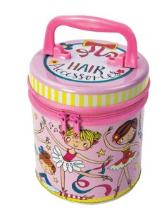 Childrens hair accessories storage tin