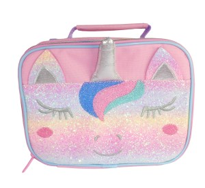 Pink Unicorn sparkly lunch bag