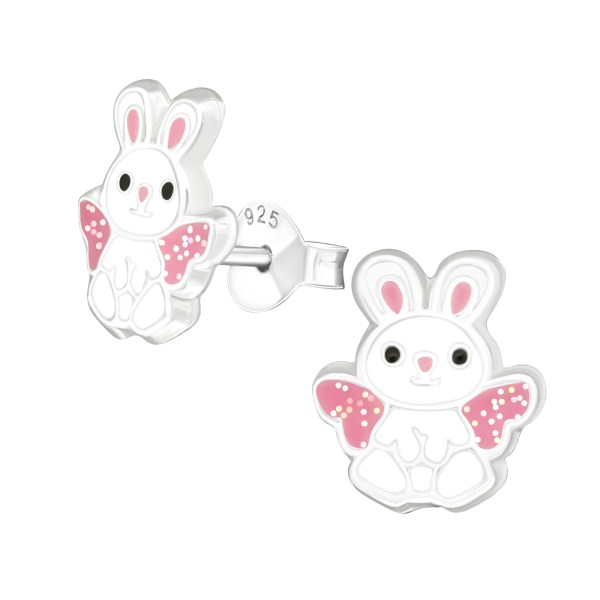 Girls rabbit earrings