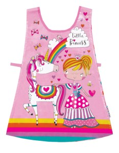 Young child's little princess pink tabard apron